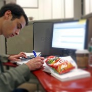 Snacking College Student