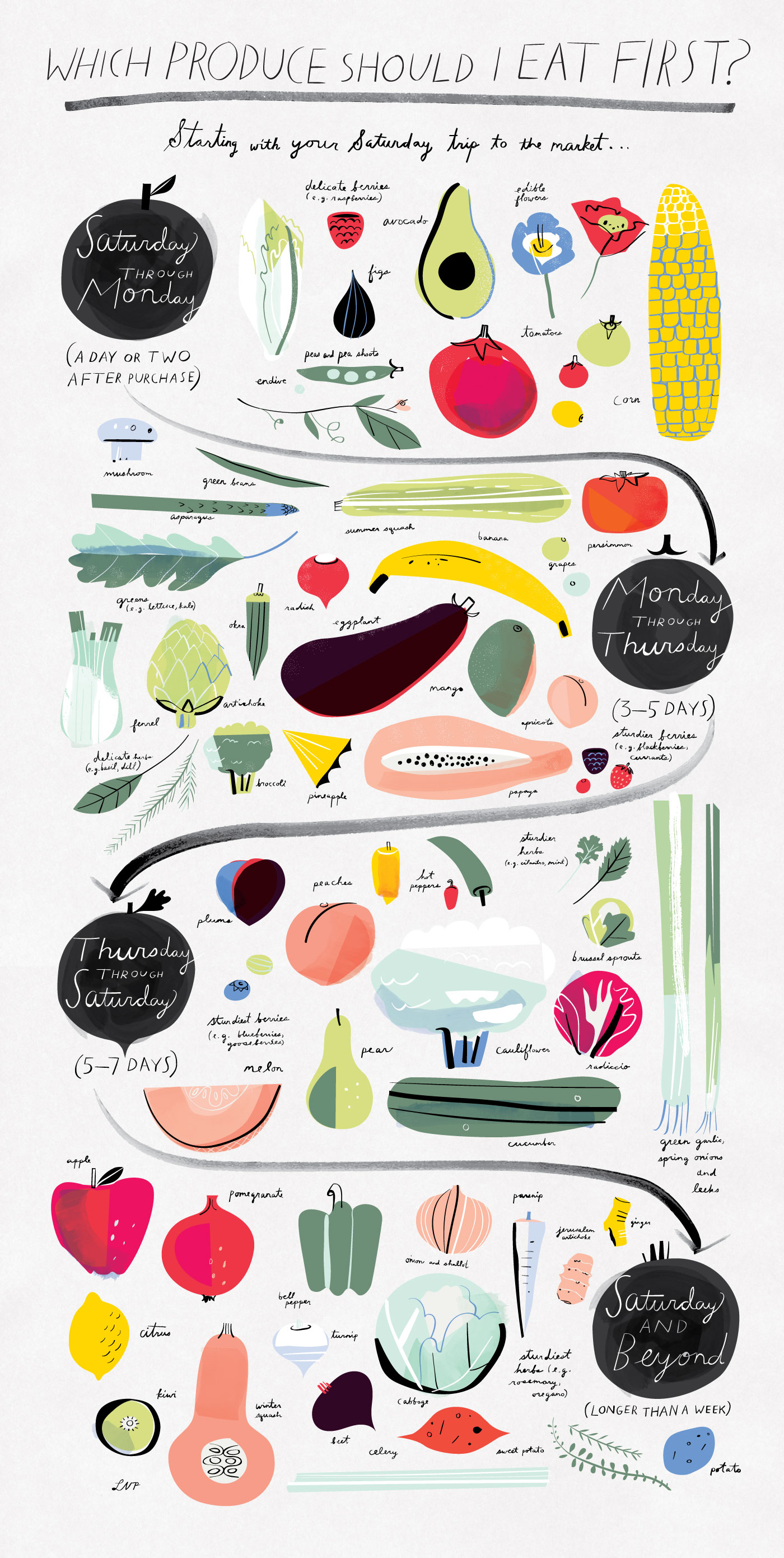 [Infographic] Which Produce Should I Eat First?