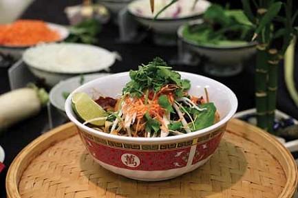 A bowl of Bun Cha.