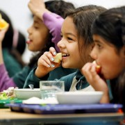 Author: U.S. Department of Agriculture Author URL: https://www.flickr.com/people/usdagov/ Title: Children eating school meals