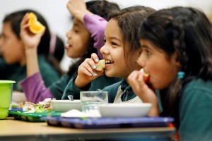 Author: U.S. Department of Agriculture Author URL: https://www.flickr.com/people/usdagov/ Title: Children eating school meals