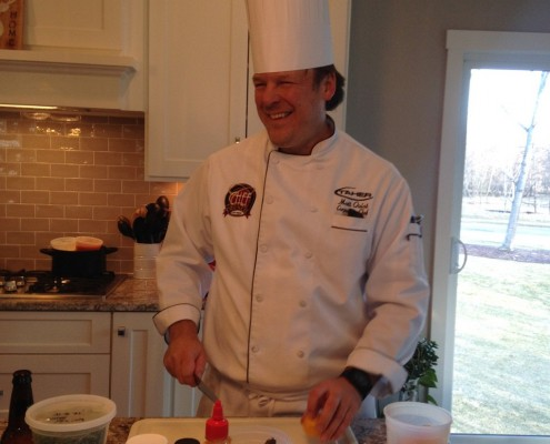 Chef Matt Quist prepping
