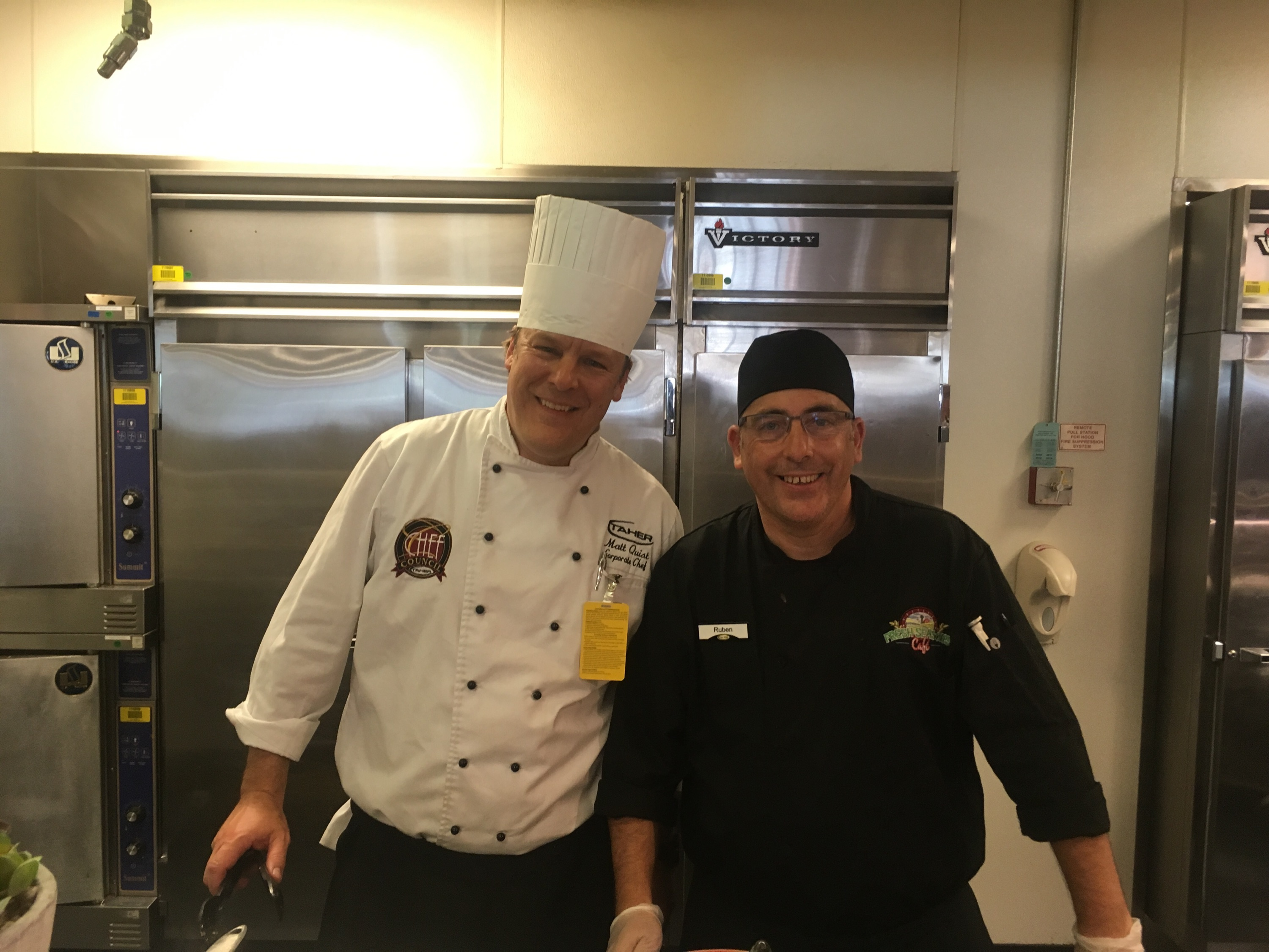 Chef Matt and Ruben at the World Cuisne station