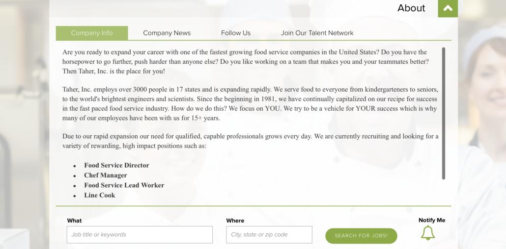 Taher Career Site