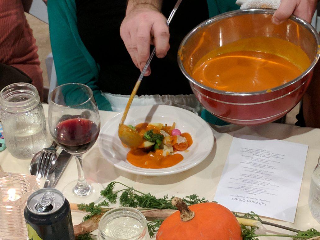 Petite Vegetable and Tomato Pistou at the Farm Dinner